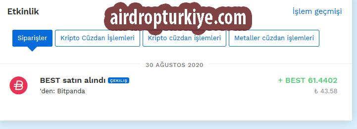 airdropturkiyebitpandaquiz Bitpanda 15€ Airdrop Fırsatı