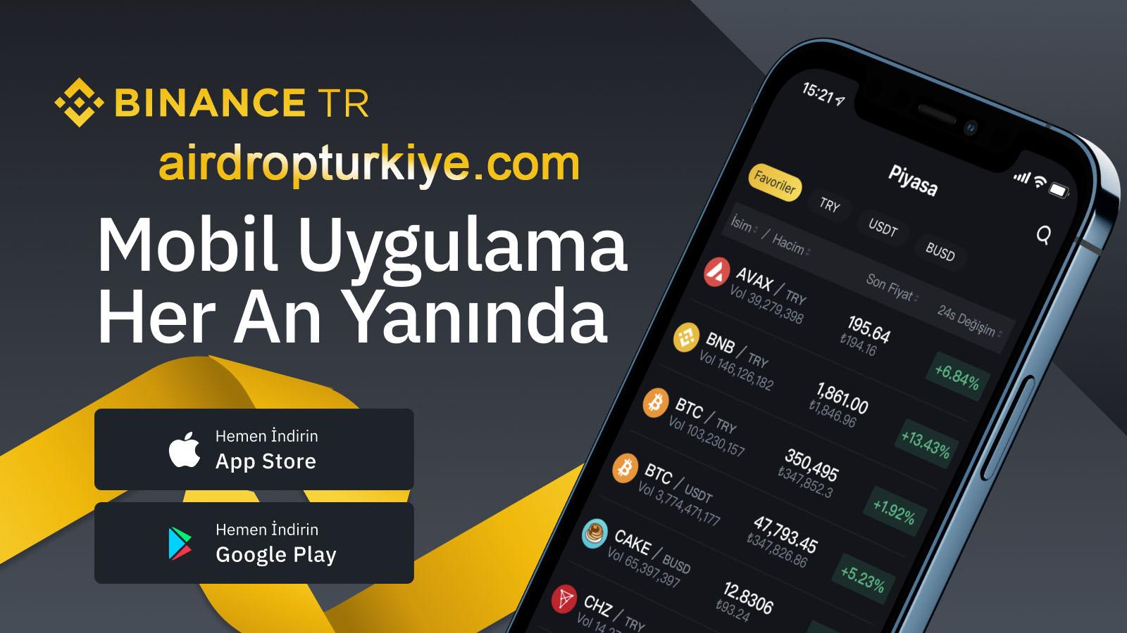 BinanceTr mobil app